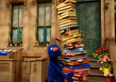 sesamestreet:  Books on books on books…