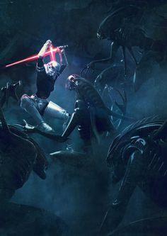 Star Wars vs Aliens – Une série d'illustrations explosive !