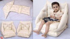 Diy Sofa, Diy Pillows, Baby Sofa Chair, Ikea Chair, Egg Chair, Chair Cushions, Rocking Chair, Toddler Sofa, Design Squad