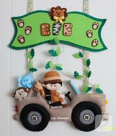 Safari temalı kapı süsü - erkek bebek