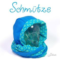 kostenloses schnittmuster anleitung schmuetze schal und muetze Bandana, Wetter Wind, Sewing Tutorials, Sewing Hacks, Sewing Projects, Sewing Crafts, Free Sewing, Baby Sewing, Sewing For Kids