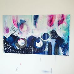 Abstract painting by Mette Lindberg. www.mettesmaleri.dk