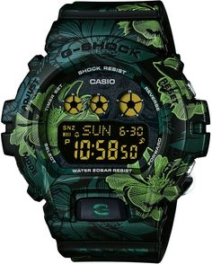 Casio Womens G-Shock S Series - Green Floral Pattern Dial and Strap - – Princeton Watches G Shock Watches, Sport Watches, Watches For Men, Men's Watches, Jewelry Watches, Men's Jewelry, Casio G-shock, Casio Watch, Camouflage