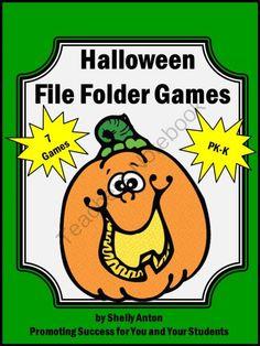 halloween file folder games special education autism pk k independent work tasks from promoting success - Halloween File Folder Games