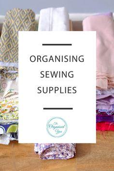 Organising sewing supplies