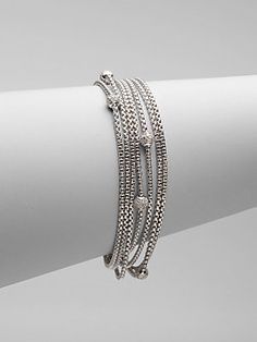 David Yurman Diamond & Sterling Silver Multi-Strand Bracelet