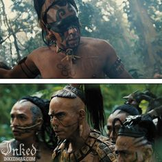 The Best Tattoos In The Movies Ever (Pt1) : Inked Magazine - Apocalypto #tattoo #tattoos #movies #inkedmag #celebrities #celebritieswithtattoos #actor #actress