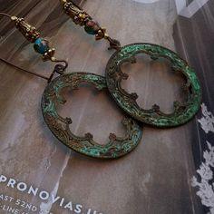 Bohemian Gypsy Style Scalloped Edge Earrings