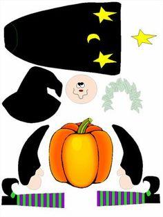 Découpage et collage pour Halloween : une sorcière en tableau ou en pantin
