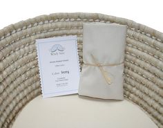 One 1 Moses Basket Sheet Ivory Cotton by babymosesbasket on Etsy, $10.00