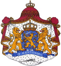 The coat of arms of the Netherlands consist out of 3 lions and a crown. It is representing the King and the country. It is used for passports, driving licens and other identifaction cards and offcourse it is the symbol of the Netherlands.
