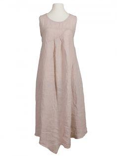 Damen Leinenkleid, rosa von Diana bei www.meinkleidchen.de