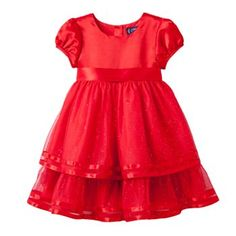 Chaps Sparkle Tulle Dress - Girls 4-6x