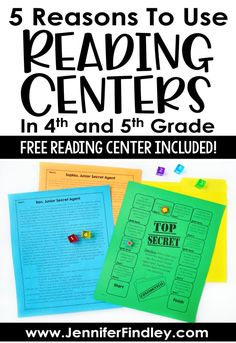 Reading centers are a perfect way to engage motivate and challenge your upper elementary students. Read this post for five reasons why. Also grab a free reading center for and grades! Reading Stations, Reading Centers, Reading Skills, Teaching Reading, Free Reading, Art Centers, 4th Grade Centers, Fourth Grade, Reading Motivation