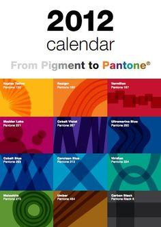 FREE Pantone 2012 Printable Calendar!