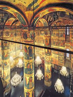 The Dormition Cathedral interior, Moscow Kremlin