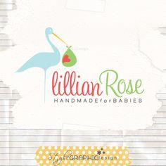 Boutique logo baby boutique branding small business logo design and watermark. $42.00, via Etsy.
