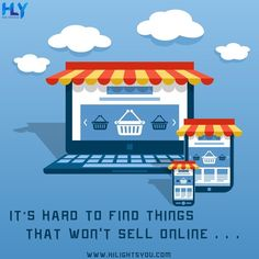 """""""It's hard to find things that won't sell online."""" Set up your online store to sell your product or services online, build your online presence. Contact us today... . . . . . #digitalmarketingagency #digitalmarketingexpert #searchengineoptimization #socialmediamarketing #websitedesigningcompany #affordabledigitalmarketing #digitalmarketing #socialmedia #emailmarketing #optimization #rank #digitalmarketingstrategy #digitalmarketingtips #seooptimization #digitalmarketer #seotips Mobile Application Development, Design Development, Digital Marketing Strategy, Digital Marketing Services, Front End Design, Seo Optimization, Ecommerce Solutions, Search Engine Marketing, Promote Your Business"""