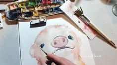 Ist ja schon nach Zehn und #ntl da darf ich wieder Ferkeleien und Schweinkram oder?  ( das Ferkelbild ist nach Fertigstellung zu haben und kommt bald auch wieder in die Shops wandklex.etsy.com und wandklex.dawanda.com (es sei denn es wird schon vorher wegadoptiert dann bitte Email an chefin@wandklex.de ) Material : Schmincke Künstlerfarben Horadam auf @hahnemuehle Britannia rauh wandklex  Kunstatelier .  #wandklex #malerei #handgemalt #aquarell #hahnemühle #kunst #art #watercolor…