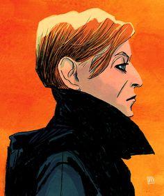 David Bowie Low - artwork by Alé Mercado Art Music, Music Artists, Bowie Low, David Bowie Tribute, Face Art, Cover Art, Illustration Art, Illustrations, Ale