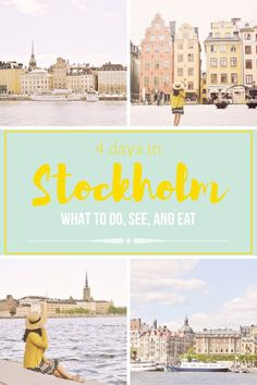 Stockholm Travel Guide - what to do, see, and eat in 4 days in Stockholm. Stockholm travel, Stockholm City Guide, 4 days in Stockholm, Things to do in Stockholm, What to do in Stockholm, Stockholm travel, Sweden Travel