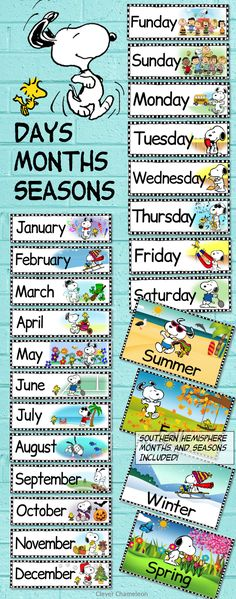 Peanuts Snoopy Classroom Labels Bundle Peanuts in the classroom - Days, Months and Seasons Posters by Clever Chameleon TPT Snoopy Classroom, Classroom Labels, 2nd Grade Classroom, Classroom Supplies, Future Classroom, Classroom Themes, School Classroom, Classroom Organization, Classroom Management