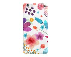 Watercolor Flowers Phone Case, Garden Phone Case, Spring Phone Case, Pretty Phone Case, iPhone, Samsung Galaxy