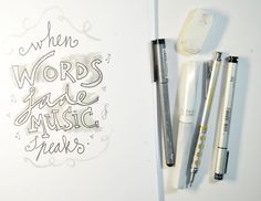 Marieke Blokland from mixed media school Bloknote Academy shares her top 5 supplies for creative lettering.