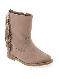 Sueded Fringe Boot