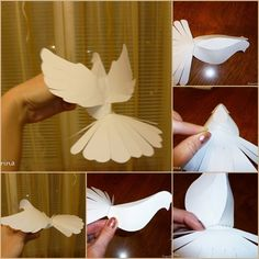 Dove are some of the most interesting and symbolic birds in the world. It has a variety of positive meanings, it's a symbol of love and devotion for a long time, and doves take great care of their young together. Make a mobile for kids or decorate else where round …