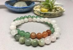 Beautiful Rose Quartz & Fancy Jasper Healing Mala Bracelet. – Earth Wood & Bone