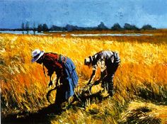 """Aldo Luongo, """"Harvest"""" - Luongo artwork available at Lahaina Galleries. visit: www.lahainagalleries.com, for shows & to see artwork first, join our FB ohana: www.facebook.com/lahainagalleriesFB"""