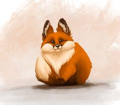 I couldn't draw foxes, so I made it my mission to learn - Mr Chubby Fox was born! - Imgur