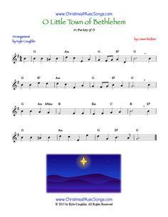 O Little Town of Bethlehem sheet music
