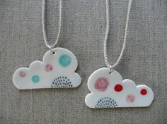 porcelain pendant - by and O design $42