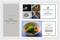 FOODIE facebook posts pack by Vova on @creativemarket