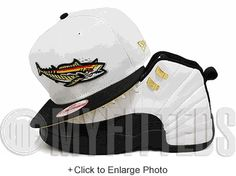 Pensacola Blue Wahoos Glacial White Jet Black Air Jordan XII Taxi Matching New Era Snapback Hat