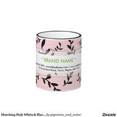 Matching Pink White & Black Custom Ringer Mug