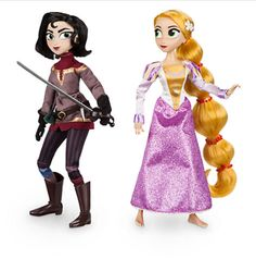 """collectibleseuphoria:  """"Rapunzel Classic Doll, Rapunzel and Cassandra Doll Set, and Mini Doll Set from Tangled: The Series  """""""