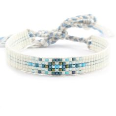 Cashmere Blue Mix Beaded Tie Bracelet - Chan Luu