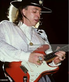 Stevie Ray Vaughan on his Live Alive Tour, August 15 1987 at pier 84 NYC.