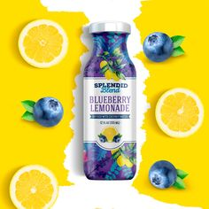 Splendid Blend is a juice brand that has been in the us market around 3 years but decided to refresh their image to look more appealing to their market; more colorful, and modern.