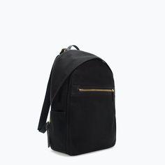 Zara - Gold Zip Backpack