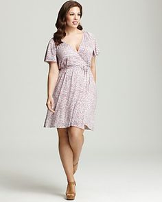 Rachel Pally White Label Plus Size Finn Flutter Sleeve Dress | Bloomingdale's