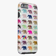 Awesome iPhone 6 Case! Whimsical Elephant Floral Aztec Chevron Patterns iPhone 6 Case. It's a completely customizable gift for you or your friends.