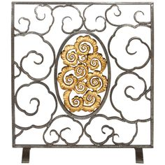 Edgar Brandt Fire Screen | From a unique collection of antique and modern screens at https://www.1stdibs.com/furniture/more-furniture-collectibles/screens/