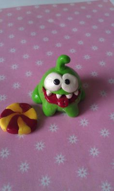 Polymer Clay Cut The Rope Monster by ThingSoSweet.deviantart.com