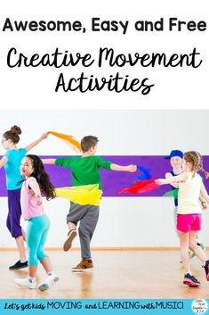 Awesome, Easy and Free Creative Movement Activities - - - It seems like more and more of my students struggle to stay focused. That's why I've composed a ton of awesome, easy and free creative movement activities. Preschool Movement Activities, Preschool Songs, Therapy Activities, Dance Activities For Kids, Motor Activities, Physical Activities, Preschool Activities, Music Lesson Plans, Music Lessons