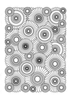 Free coloring page coloring-adult-sunflower.
