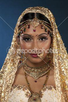 linda jovem noiva indiana — Imagem Stock #17163521